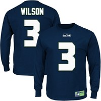 Russell Wilson Seattle Seahawks Eligible Receiver II Long Sleeve T-Shirt – Navy Blue