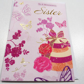 Cards - Birthday Cards - Handmade Cards - Any occasion cards - Made in Australia - unique cards - Happy Birthday Sister