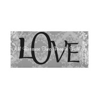 Vintage Damask Love Quote Canvas Print from Zazzle.com