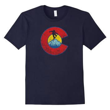 Retro Colorado Snowboarding T-Shirt