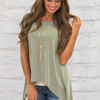 Anything But Neutral Blouse Sage