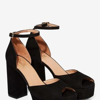 Shellys London Deborah Suede Platform - Black