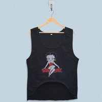 Women's Crop Tank - Betty Boop Supreme Logo