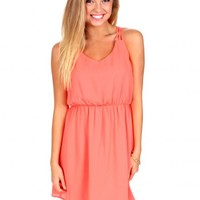 From Where You Are Coral Dress | Monday Dress Boutique