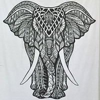 Shopnelo Home Special Shopnelo Black and White Tapestries Elephant Mandala ,Bedroom special Hippie Tapestry Indian Traditional Throw Beach Throw Wall Art College Dorm Bohemian Wall Hanging Boho Twin Bedspread