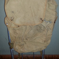 Vintage 1950s Mid Century Cruiser Boy Scout of America National Council Backpack - Camper Bag - Scout Bag-