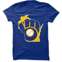 Milwaukee Brewer's T-Shirt, Brewers, love our Brewers, brew crew, wisconsin teams, brewers, milwaukee, wisconsin, brewers fan, baseball