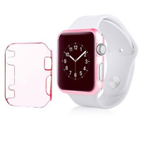 Insten For Apple Watch iWatch 38mm Sport   Protective Case Clear Pink