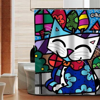 Romero brito Fashion Latest Waterproof Custom Shower Curtain Bathroom Decor Various Sizes Free Shipping MORE SIZE SQ0503-ZHH