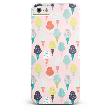 The All Over Pink Ice Cream Cone Pattern iPhone 5/5s or SE INK-Fuzed Case