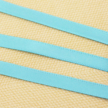 7mm Satin Ribbon - Double Sided - Turquoise - 91m - Hair Accessories, Cakes, Bouquets, Jewellery, Costume, Hats!