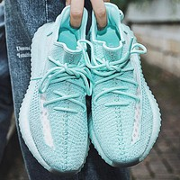 Adidas Trending Yeezy Boost 350 V2 Women Men Sports Sneakers Fashion running shoes Blue