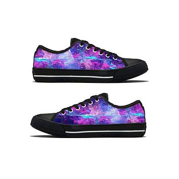Galactic Trip - Low Top Canvas Shoes