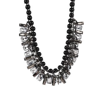 Adia Kibur Cluster Bead and Crystal Necklace