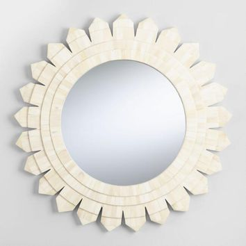 Natural Bone Sunburst Mirror