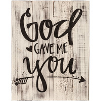 God Gave Me You Wood Pallet Wall Decor | Hobby Lobby | 1298959