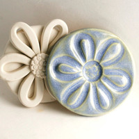 Large Clay Stamp Daisy Flower Texture or Pattern Tool for Ceramics Pottery Fondant Cookies