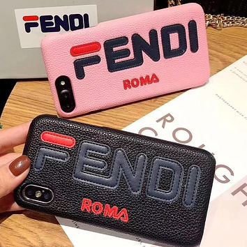 Perfect Fendi Phone Cover Case For iphone 6 6s 6plus 6s-plus 7 7plus 8 8plus iPhone X XS XS max XR
