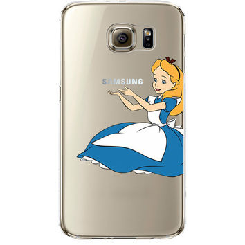 Disney's Alice in Wonderland Jelly Clear Case for Samsung Galaxy S6