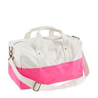 Neon Azalea Canvas overnight bag - bags - Girl's jewelry & accessories - J.Crew