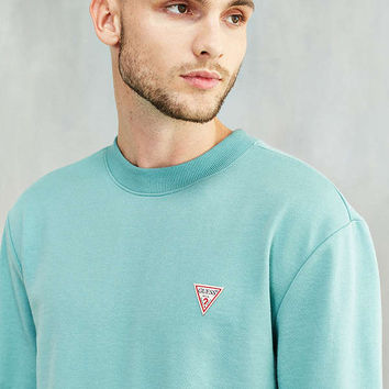 GUESS Logo Crew Neck Sweatshirt | Urban Outfitters