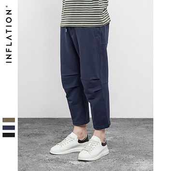 INFLATION 2017 SS Summer Collection Men's Hightstreet Summer Men's Casual And Comfortable Loose Lace Tenths Pants