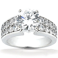 2.75 carat new diamonds anniversary ring white gold