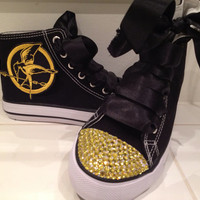 Hunger Games Mockingjay gem shoes