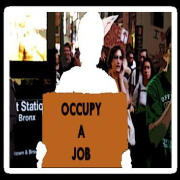 Occupy A Job Stickers by RagingCuppCakes | RedBubble
