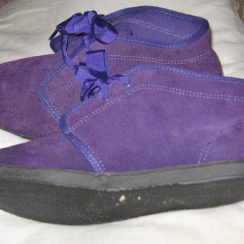 Vintage 1990s purple Suede Ankle Booties By Keds  sz 8 1/2