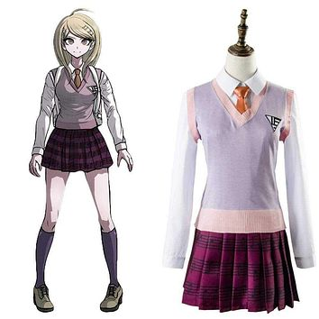 Japanese Anime Danganronpa 3 Cosplay Costume Akamatsu kaede Outfit Dress Cosplay Costume Adult Halloween Carnival Macchar Cosplay Catalogue