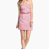 As U Wish Stripe Strapless Dress (Juniors) | Nordstrom