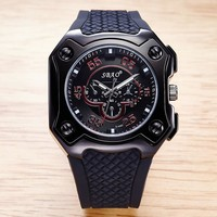 Men Watch Silicone Men Waterproof Quartz Watch [10816522499]