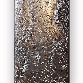 Vintage Cigarette Case Silver Metal for iPhone 4/4S Case *