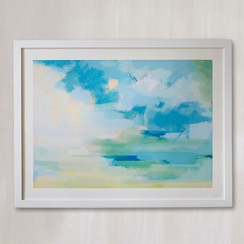 Aqua Sunshine Wall Art by Minted®