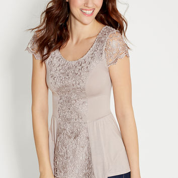 peplum top with lace
