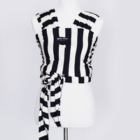 Signature Black & White Striped Milk Snob™ Wrap - MilkSnob