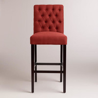 Firebrick Red Harper Barstools, Set of 2