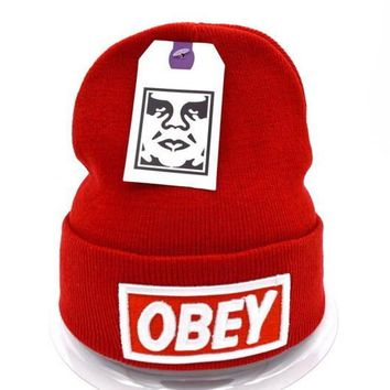 Obey Women Men Embroidery Beanies Knit Wool Hat Cap-28