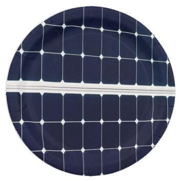 Solar power panel paper plate