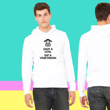 Save a Cow eat Vegetarian sweatshirt hoodiee
