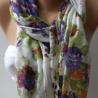 Shawl for Summer  / Elegance Shawl / Scarf - soft and light,,
