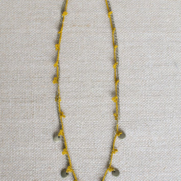 Daisy Chain Necklace in Marigold