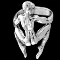Rings - ABSTRACT MAN RING - Handcrafted Silver Jewelry