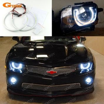 For Chevrolet Chevy Camaro 2010 2011 2012 2013 Headlight Excellent Angel Eyes Ultra bright smd led Angel Eyes Halo Ring kit
