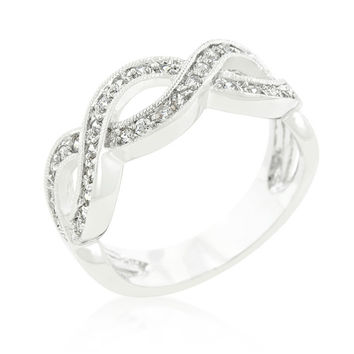 Gretel Infinity Paved Band Ring | 1.5ct | Cubic Zirconia