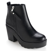 sugar Lupe Women's Platform Ankle Boots