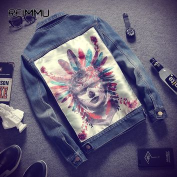 2017 New Autumn Style Men's Jean Jacket Famous Brand Jeans Jacket Men High Quality 5XL Denim Jean Jacket Coat Male Hot Sale