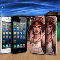 Princess Mononoke Design iPhone 4/4S / 5/ 5s/ 5c case and Samsung Galaxy S3/ S4 case