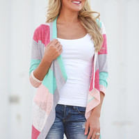 Think Of Me Fondly Cardigan - Mint